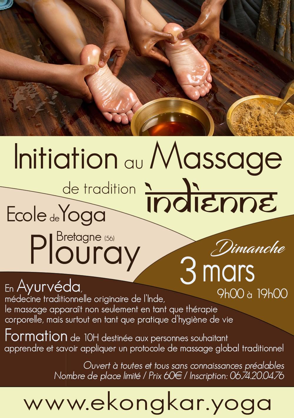 Formation: Massage ayurvédique